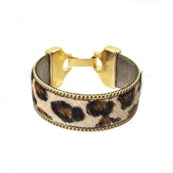 Pulsera Piel de Potro Leopardo