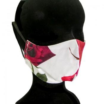 Mascarilla Adulto Flores de Rosa