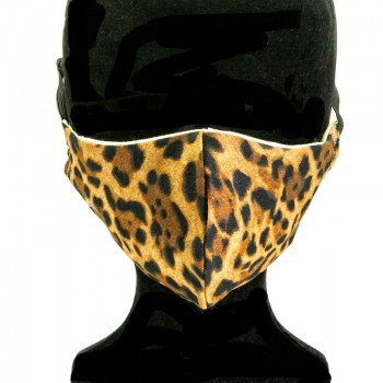 Mascarilla Adulto Leopardo