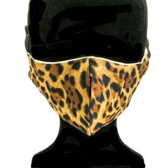 Mascarilla Adulto Animal Print Leopardo