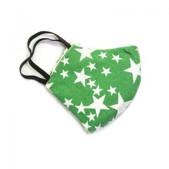Mascarilla Infantil Verde con Estrellas