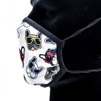 Mascarilla Infantil Perritos con Gafas