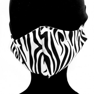 Mascarilla Adulto Animal Print Cebra