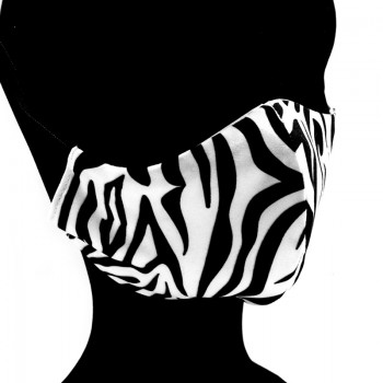 Mascarilla Adulto Animal Print Cebra