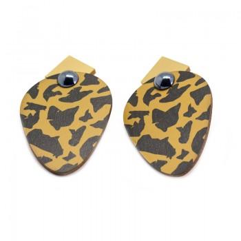 Pendientes Oval Leopard Skin