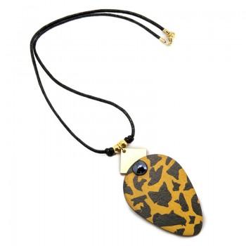 Colgante Oval Leopard Skin