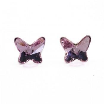 Pendientes Plata de Ley Swarovski Butterfly Mini