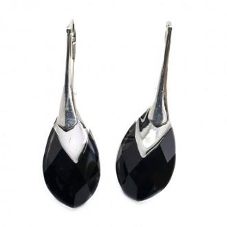 Pendientes Plata de Ley Swarovski Pear