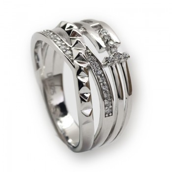 Anillo de Plata de Ley Brilliant Twist