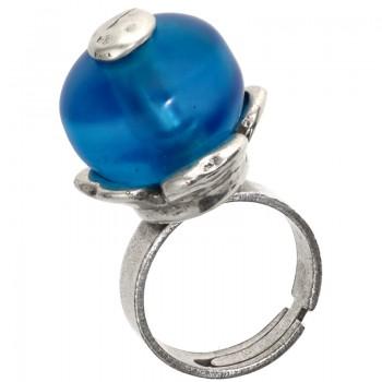 Anillo Baño Plata Apolo Azul