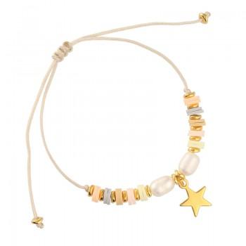 Pulsera Hilo Seda Pastel Ring Estrella