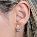 Pendientes Plata de Ley Ear Cuff con Circonitas
