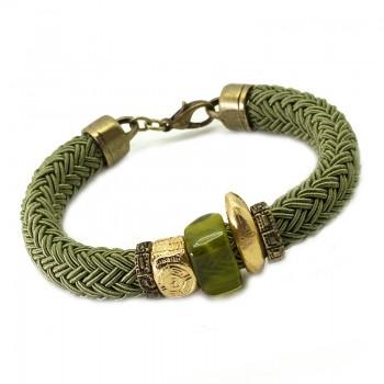 Pulsera Cordón Seda Azteka Verde
