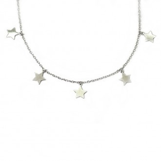Gargantilla Plata de Ley Estrellas Colgantes