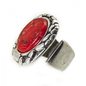 Anillo Little Beetle Rojo